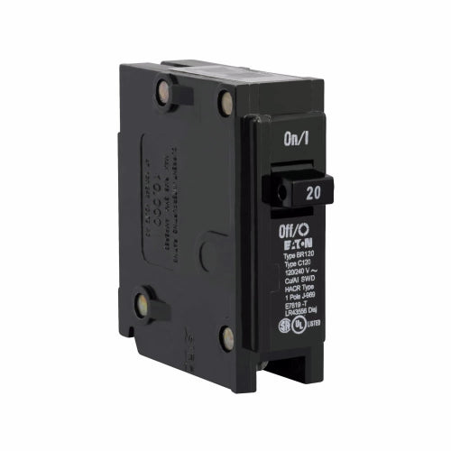 Cutler-Hammer BR120 - Type BR 1-Inch Plug-On Circuit Breaker Image