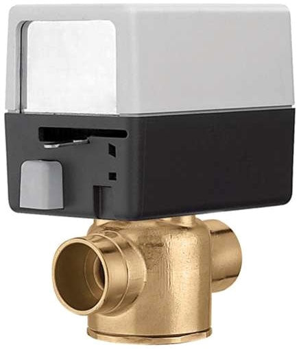 "The Caleffi Z-One Z40 2-Way Valve and Actuator Set with 18"" Leads & AUX Switch has a CV of 3.5."