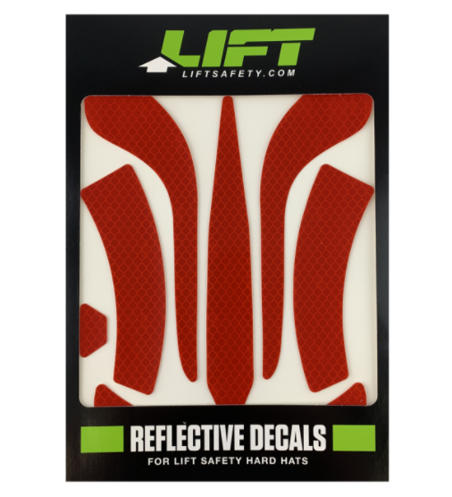 LIFT HDRD-20RD  DAX REFLECTIVE DECALS - RED
