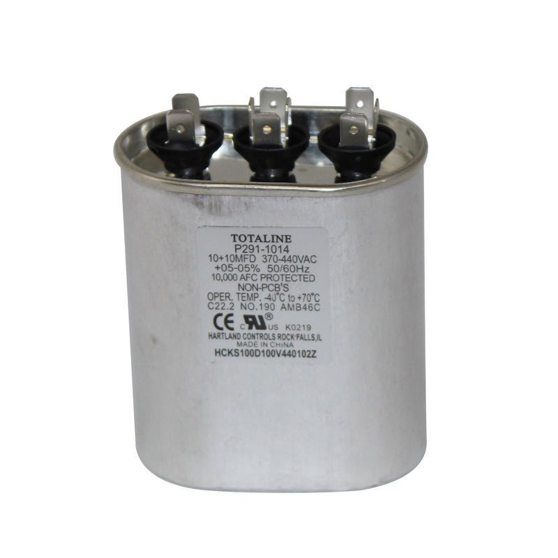 Carrier Totaline® - P291-1014 Run Capacitor Oval 370/440V Dual 10/10 MFD