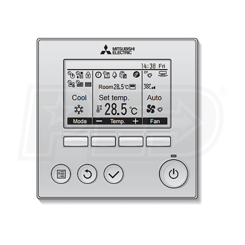 Mitsubishi PAR-33MAA-J - Wired Remote Controller - Programmable - Wall Mounted