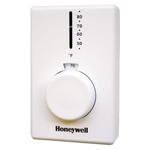 Honeywell T4398A1021 -  Premier White High Performance Electric Heat Thermostat for Electric Baseboard Heat. Image