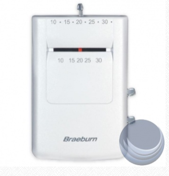 Braeburn  500C Mechanical Megaswitch Thermostat 500C, 1C / 1H Gas/Electric Celsius 24V