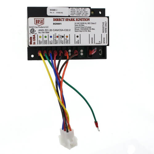 Baso BGN891-1C - Ignition Module with 6 Pin Harness for Pulse Furnace (Baso Gas Products) Image