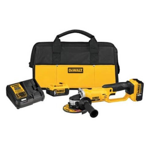 Dewalt DCG412P2 - 20V MAX Lithium-Ion Cordless Cut-Off Tool Kit w/ Batteries, Charger, and Contractor Bag