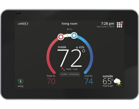 Lennox 15S63 - iComfort E30 Universal Smart Programmable Thermostat (Alexa and Apple HomeKit Compatible) Image