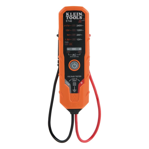 Klein Tools ET40 - Electronic AC/DC Voltage Tester 12 to 240V AC, 1.5 to 24V DC Image