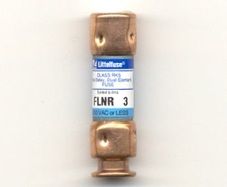 Littelfuse FLNR3, 3 Amps, 250/125V AC/DC, UL Class Rk5 Dual-Element Time-Delay Fuse