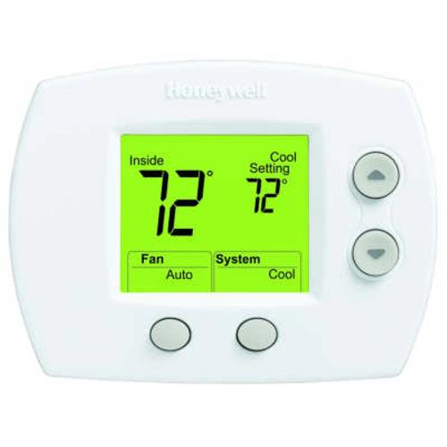 Honeywell TH5110D1022 - Large Display Non-Programmable Digital Thermostat for Low-Voltage Conventional and Heat Pump Image