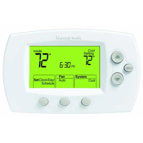 Honeywell TH6110D1021 - FocusPRO 6000 Large-Size Display Programmable Thermostat for 1H/1C Image