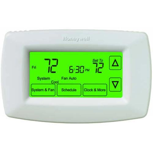 Honeywell TH7220U1035 - 7 Day Touchscreen Programmable Thermostat with automatic/manual changeover (TH7220U1035/U) Image