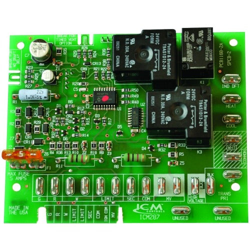 ICM Controls ICM287 - Furnace Control, replacement for Goodman B18099-04 control boards.