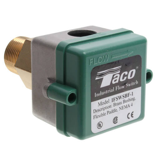 Taco IFSWSBF-1 - Brass Flow Switch w/ Flexible Paddles (NEMA4, Small Turning Radius)