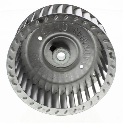 "Carrier LA11XA048 Draft Inducer Blower Wheel Diameter 3-3/4"" Width 1.65"" Bore 5/16"" Rotation CW Hub End Image"