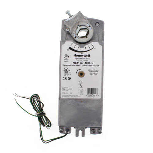 Honeywell MS4120F1006 - Two Position Damper Actuator w/ Spring Return for Fire and Smoke Applications (175 lb-in)