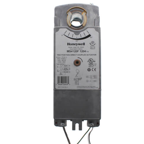 Honeywell MS4120F1204 - Two Position Damper Actuator w/ Spring Return and Aux. Switches for Fire and Smoke Applications (175 lb-in)