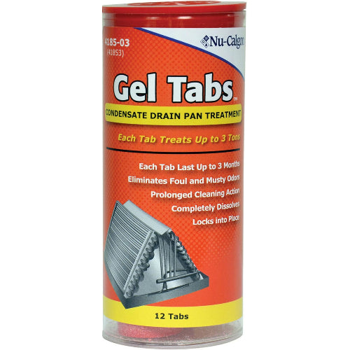Nu-Calgon 4185-03 - Gel Tabs - Condensate Drain Pan Treatment - 3 Ton Tab (12 In Tube) Image