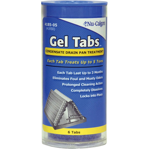Nu-Calgon 4185-05 - Condensate Drain Pan Treatment Gel Tabs (5 Ton Tab (6 In Tube)) Image