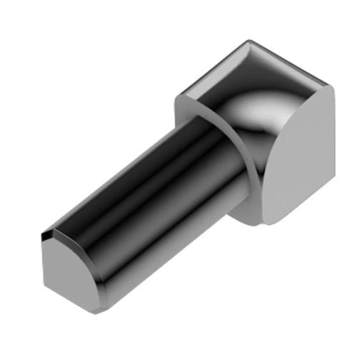 "Schluter IV/RO100ACG - RONDEC - 90 Degree Inside Corner - For 3/8"" Thick Tile - Polished Chrome Plated Aluminum Image"