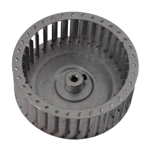 "Carrier LA11XA046 - Draft Inducer Blower Wheel Diameter 4-1/2"" Width 1.65"" Bore 1/4"" Rotation CW Hub End Image"