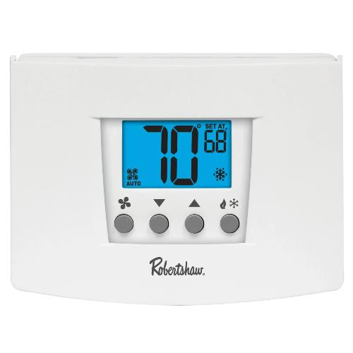 Robertshaw RS4110 - Digital Value Non-Programmable Wall Thermostat, 1 Heat / 1 Cool Image