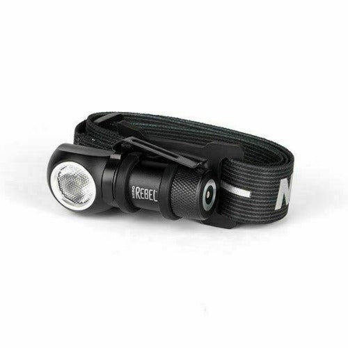 Nebo 6691 - Rebel 600 Lumen Rechargeable Head Light Tactical Headlamp Bundle with a Lumintrail USB Wall Adapter