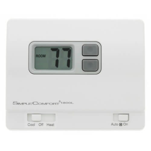 ICM Controls SC1800L - Non-Programmable SimpleComfort Heat Only Thermostat (w/ Fan Switch) Single Stage