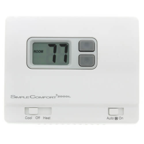 ICM Controls SC2000L - Simple Comfort Non-Programmable Thermostat with Backlit Display, Honeywell: T8400, T8401 Series, Robert Shaw: 300-206, 8400-1, 9400, 9500, RS2110, White-Rodgers: 1F78-144, Multicolor