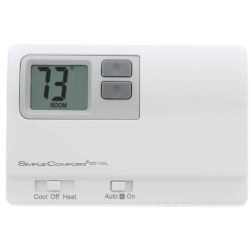 ICM Controls SC2010L - Thermostat, 1-Stage Heat/Cool or Heat Pump, Backlit, Dual Power,Multicolor