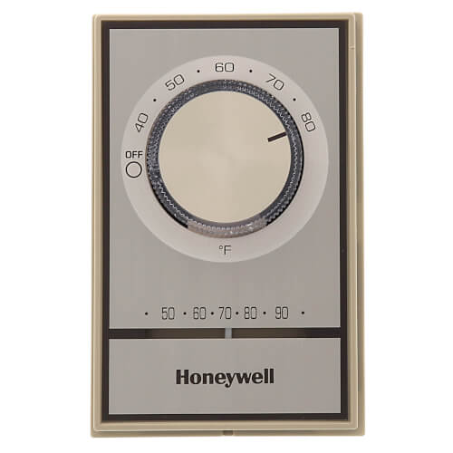 Honeywell T498B1512 - T498 Gold Electric Heat Thermostat, w/ Pos Off & Range Stops Image