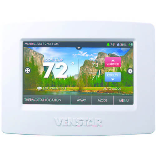 Venstar T7900 ColorTouch Thermostat 7 Day Programmable w/ WiFi & Humidity (4 Heat 2 Cool) Image