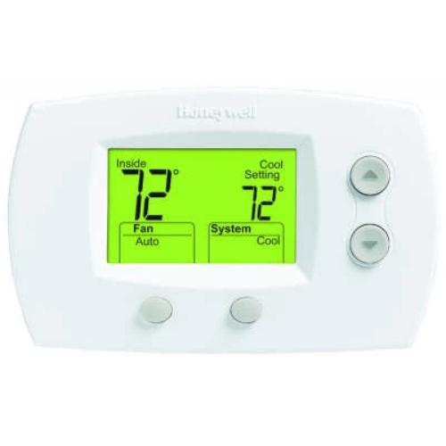Honeywell TH5220D1029 - Non-Programmable Hard-Wired Digital Thermostat For Heat Pump Conventional Image