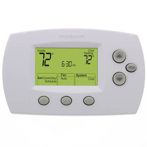 Honeywell TH6110D1005 FocusPRO 6000, Programmable Thermostat, 5-1-1 Day, Single Stage