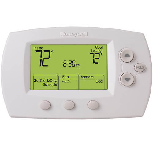 Honeywell TH6220D1028 - FocusPro Programmable, 2H/2C, Large Display Thermostat