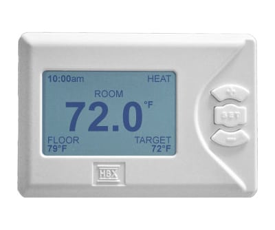 HBX THM-0100 Non-Programmable Thermostat(Set Point Control 1H/1C)