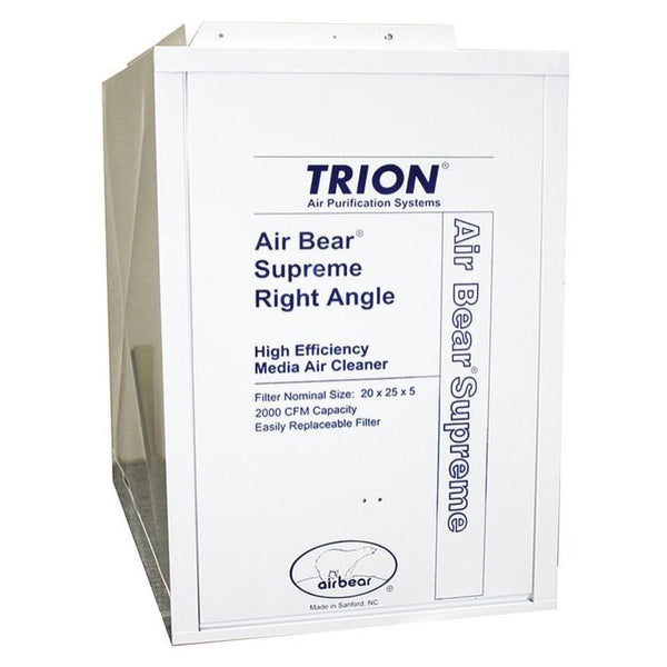 "Trion 447380-010 - Air Bear Supreme Right Angle 25"" x 25"" x 15-1/2"" Media Cleaner MERV 8, 2000 CFM"
