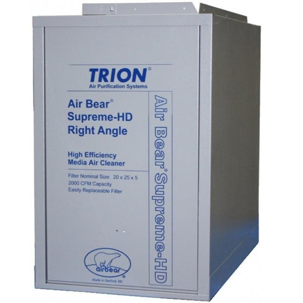 Trion 266380-0010 - Air Bear Right Angle-HD Air Cleaner MERV 13, WH