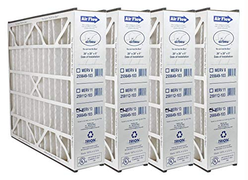 "Trion 266649-103 - 20"" x 20"" x 5"" MERV 13 Pleated Air Filter - 4 pack"