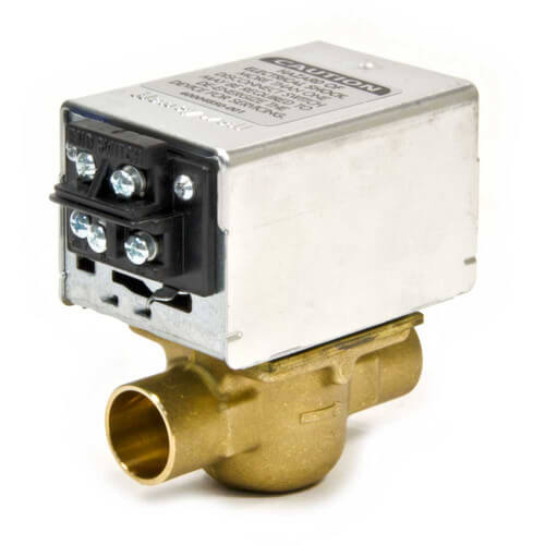 "Honeywell V8043F1093 - Home-Resideo Motorized Low Voltage Normally Closed Zone Valve - 3/4"" Pipe - Sweat Connection Image"