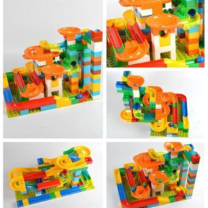 Marble Run Building Blocks Construction Toys Set Puzzle Race Track