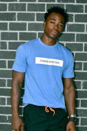Blue Cotton Unisex Logo Tee