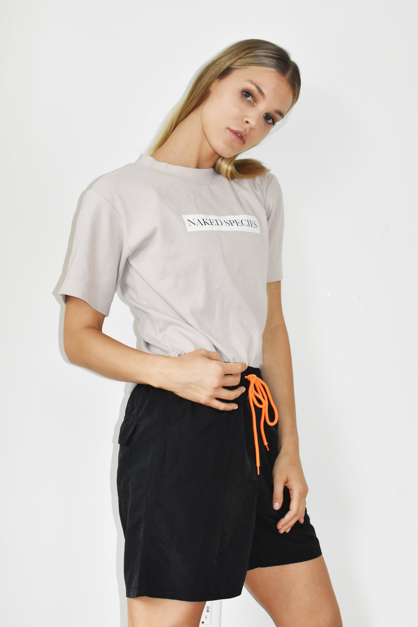 Butter Soft Logo Tee in Sand