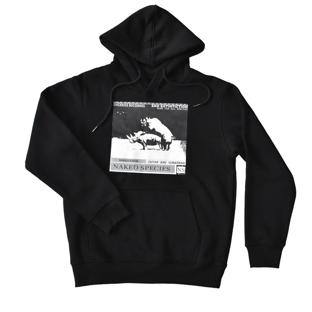 Black Be Fruitful Rhino Hoodie
