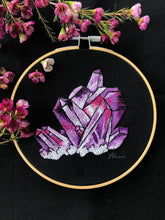 Amethyst embroidery