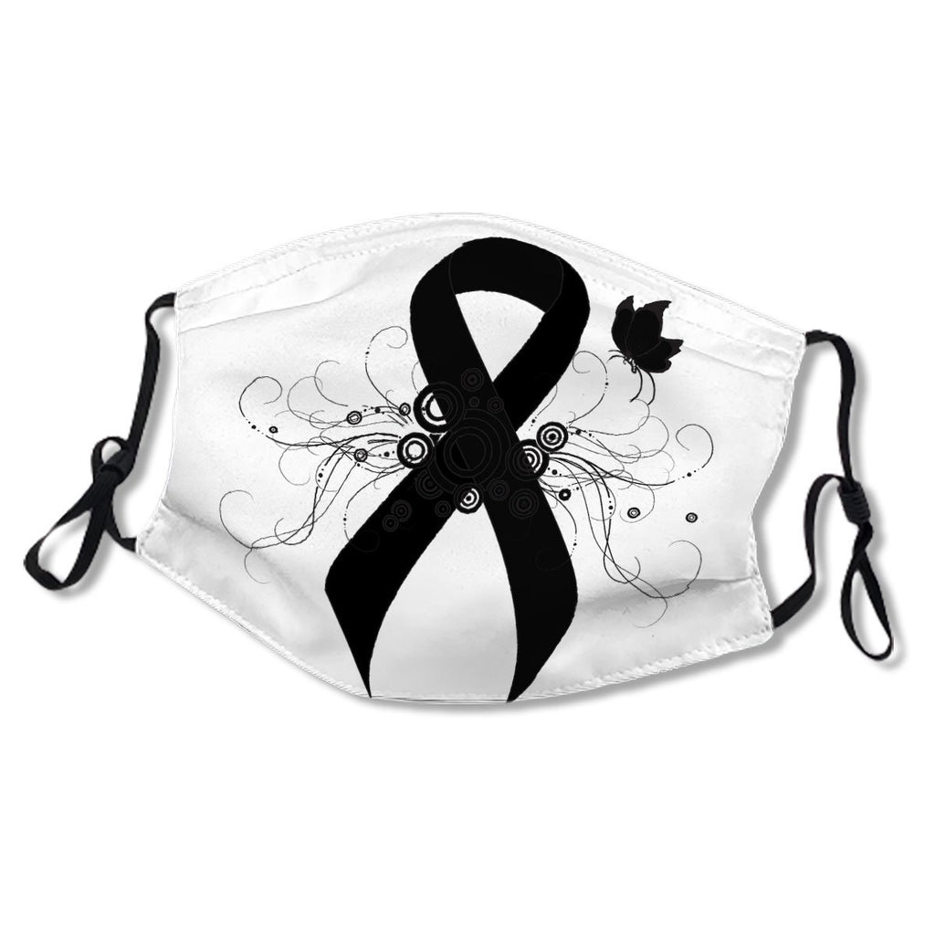 Black Ribbon with Butterfly White Cotton NO. 45FQET