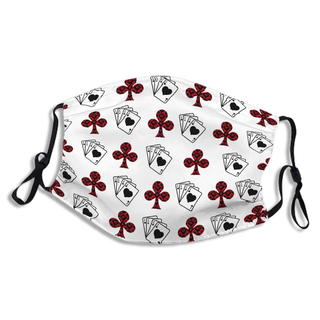 Poker Cross And Cards Red Black Pattern No.47Q28W