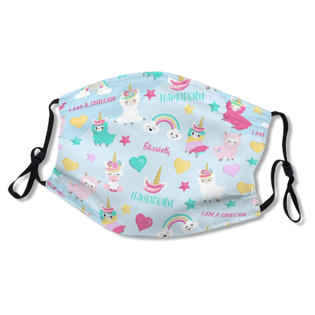 Cute Llamacorn Unicorn Pastel Pattern Girls No.4FCPBI