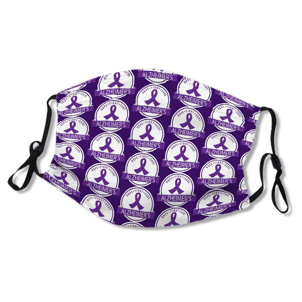 Alzheimers Disease Purple Awareness Ribbon Cloth NO. 96NM8E