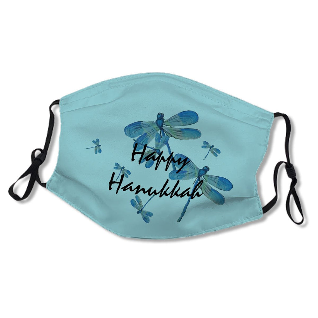 Happy Hanukkah Dragonfly Delicate Blue Insect No.CTF24O