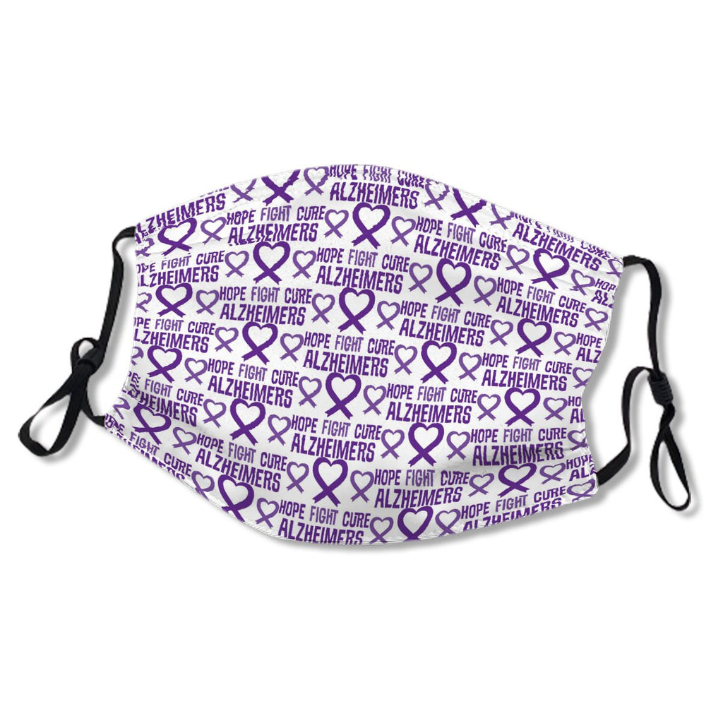 Alzheimers Disease Hope Awareness Ribbon Cloth NO. EAXOGB